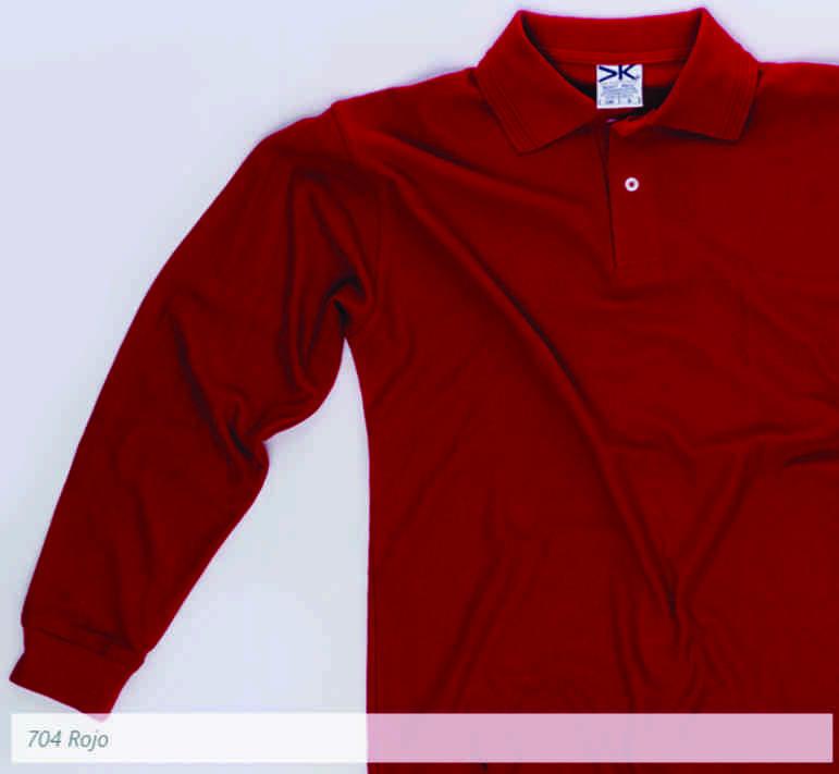 ... 704 Polo Manga Larga Caballero Rojo 80ac8d66bdf4b