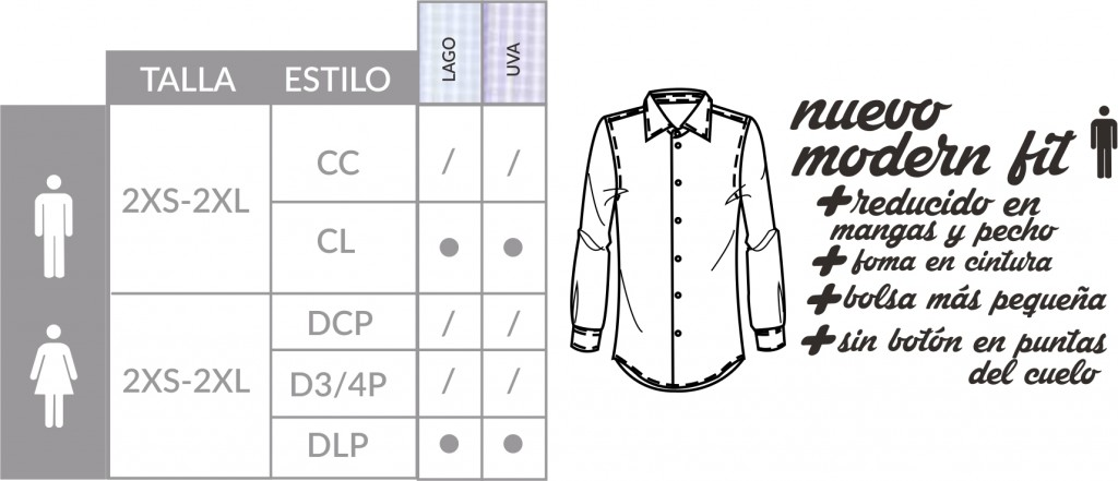 Camisa Lyon estilos