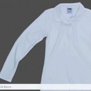Camisa Tipo Polo Mayorka 724 Manga Larga Dama Blanco
