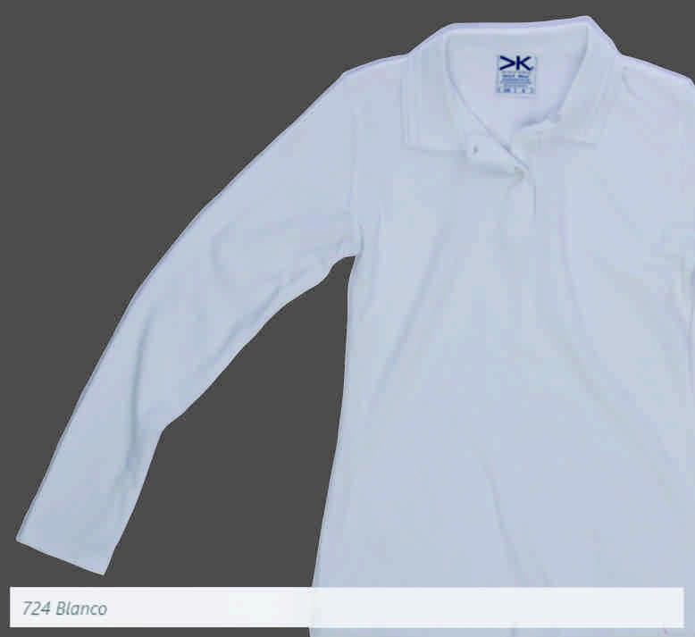 Camisa Tipo Polo Mayorka 724 Manga Larga Dama Blanco 78a52b630fcf6