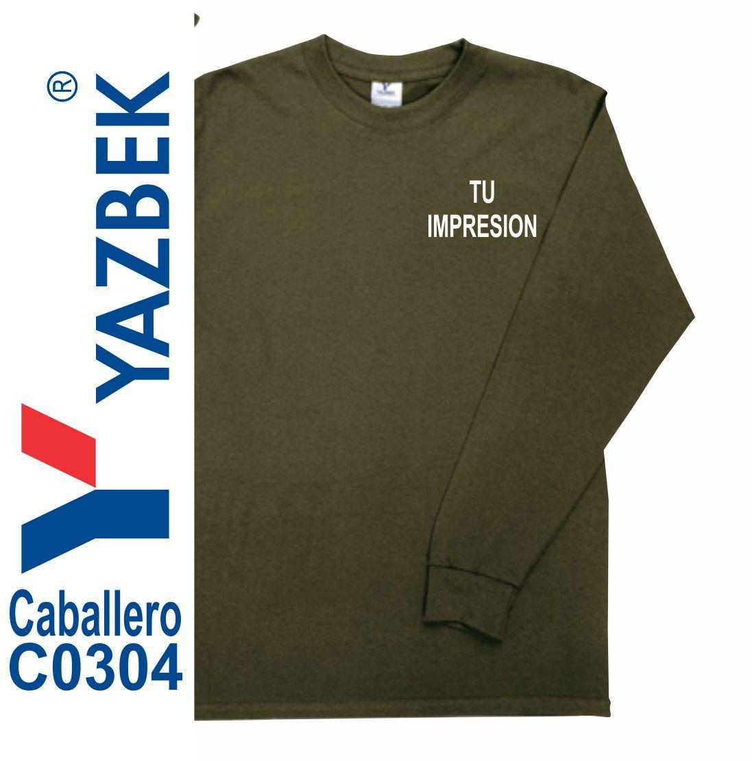 87d33da459fe9 Playera Yazbek Caballero Manga Larga C0304 Principal