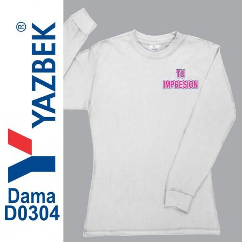 Playera Yazbek Manga Larga Dama D0304