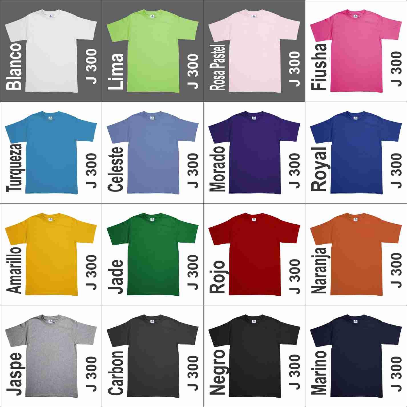 319859870a230 Playera Yazbek Peso Completo Joven J300 Colores