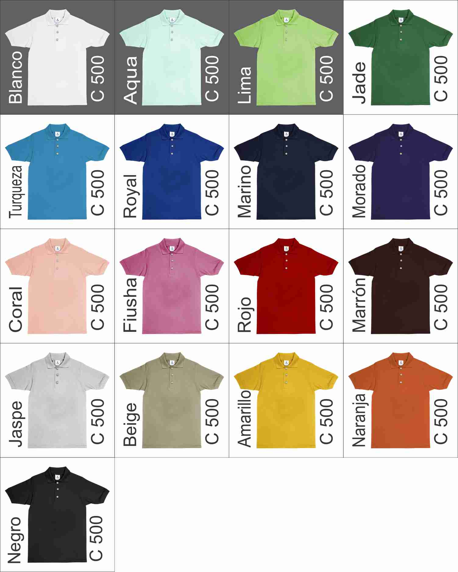 24517d7e6042f Polo Yazbek 500 Colores
